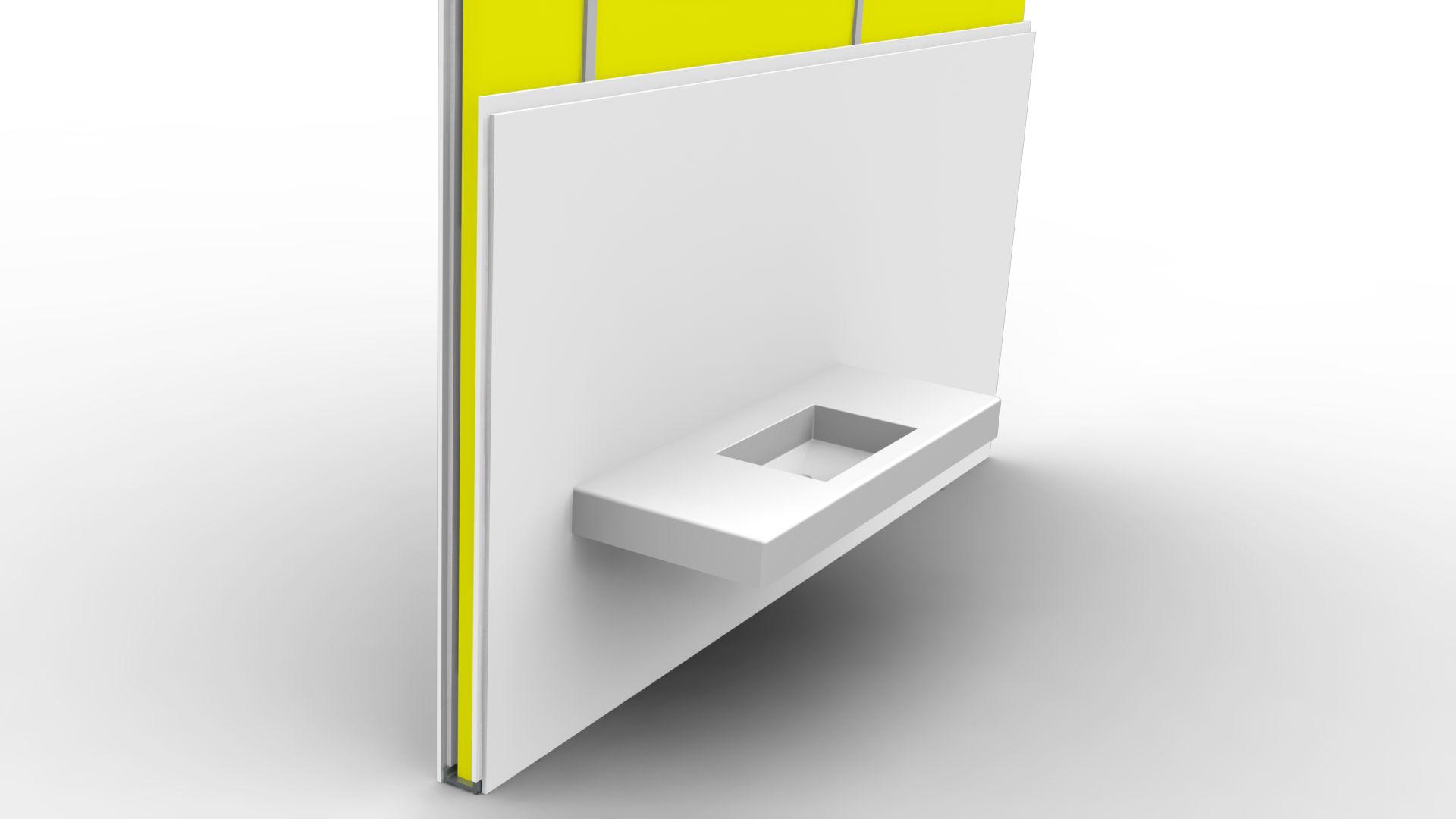 Beépített mosdópult maanodo® TECH konzol használatával egyszerű